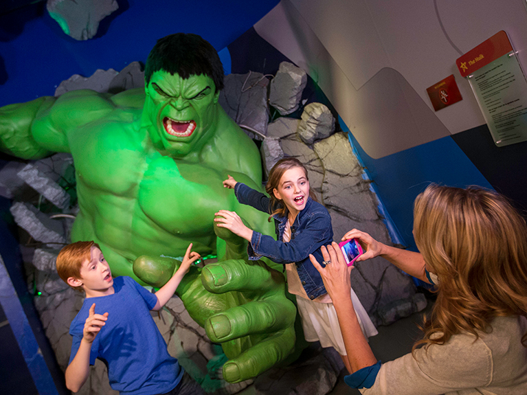 Hulk display at Madame Tussauds in Las Vegas